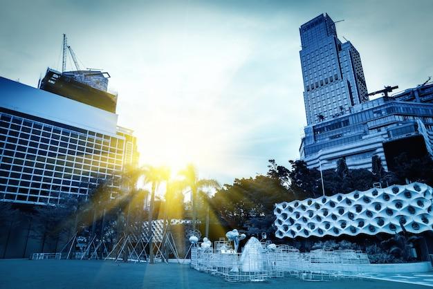 Stedelijk architecturaal landschap in hong kong