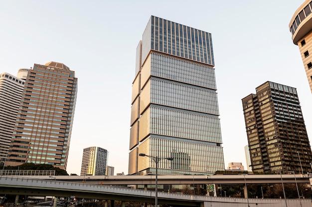 Stedelijk landschap wolkenkrabber japan