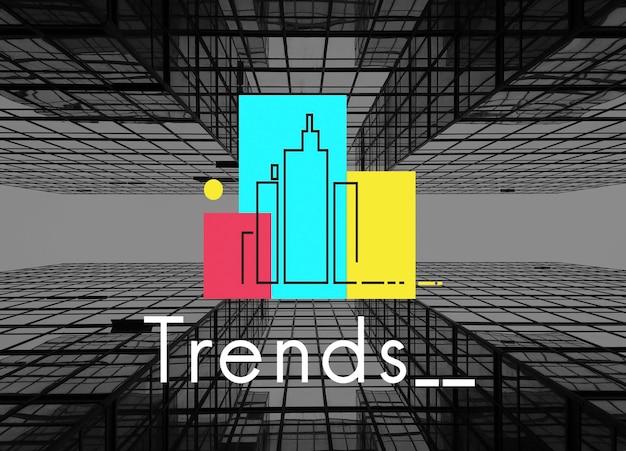 Stedelijk leven stad lifestyle maatschappij grafisch