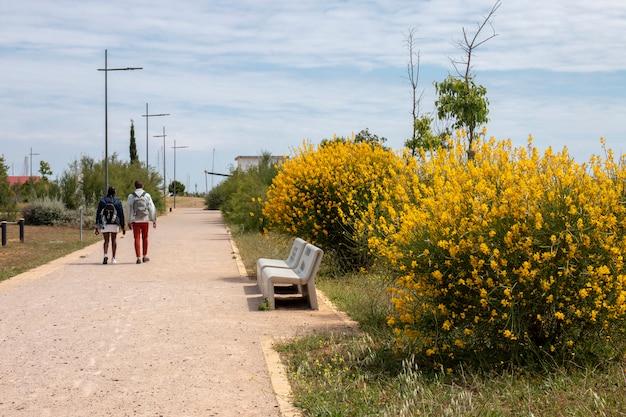 Stedelijk park in de stad faro