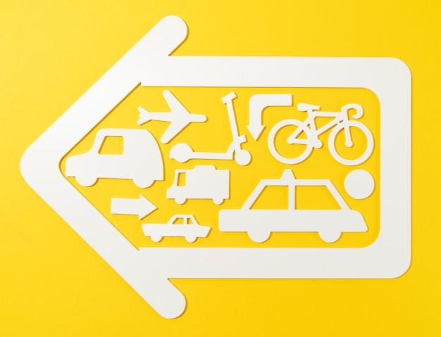 Stedelijk vervoersconcept met voertuigen