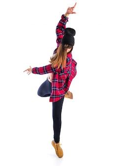 Stedelijke danseres poseren op studio