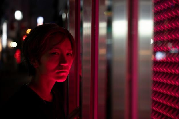 Stedelijke mysterieuze lichten van filmesthetiek