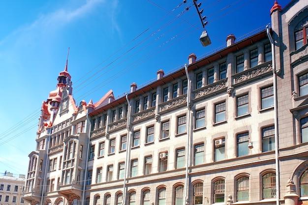 Stedelijke stad uitzicht op sint-petersburg.rusland