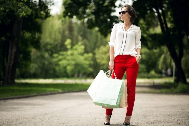 Stedelijke zaken mooie rode luxe elegante