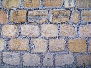 Steen textuur, de bouw