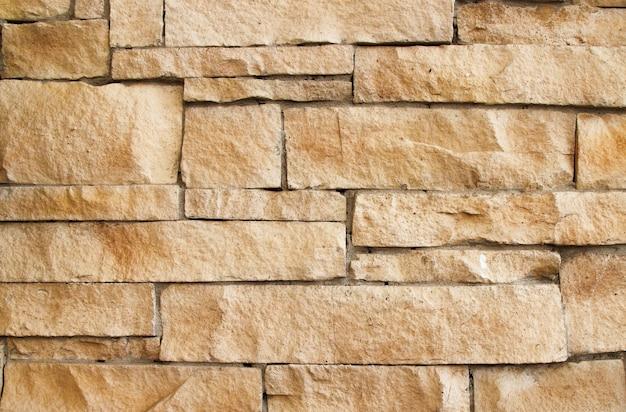 Steenbakstenen muur, de oude muur van de baksteensteen