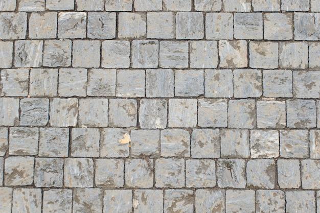 Steenrijweg van granietgebied in praag.