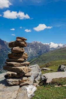 Steensteenhoop in himalayagebergte