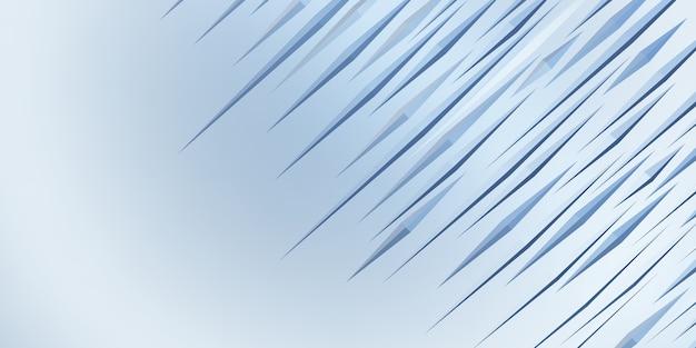 Stekelige driehoek abstracte geometrische achtergrond 3d illustratie