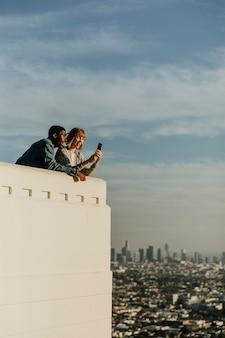 Stel dating bij het griffith observatorium in los angeles, vs
