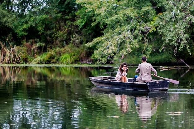 Stel in de boot