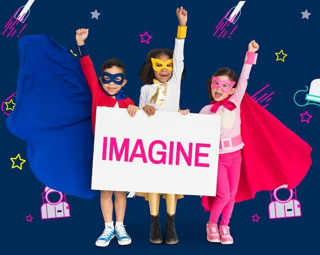 Stel je voor droom inspiratie creativiteit ideeën voorstellen