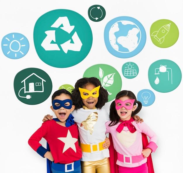 Stel je voor genieten ruimte recycle mindfulness