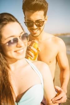 Stel op het strand