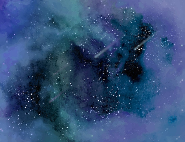 Stellaire aquarel achtergrond