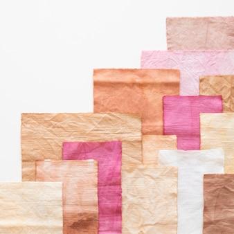 Stelletje doekensamenstelling met natuurlijke pigmenten