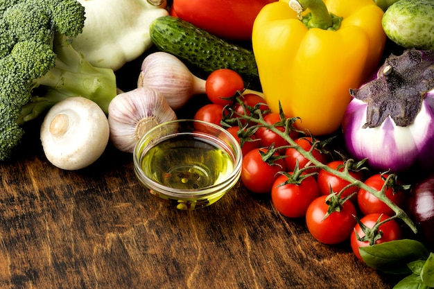 Stelletje verse groenten assortiment