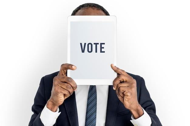 Stem verkozen besluit keuze politieke registratie