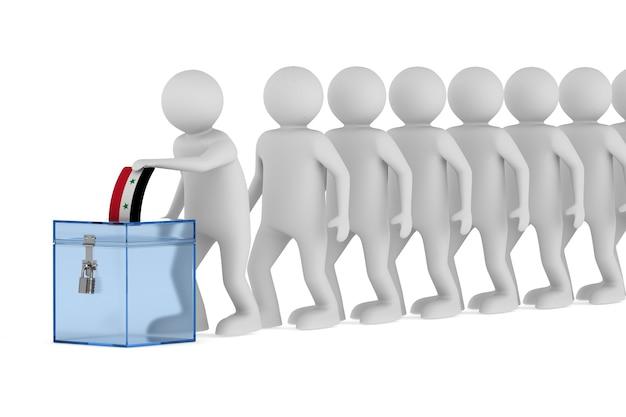 Stemmen in syrië op witte achtergrond. geïsoleerde 3d illustratie