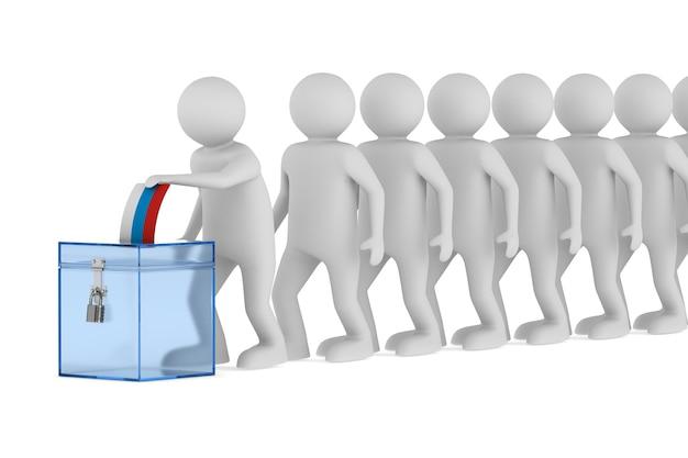 Stemmen op wit.