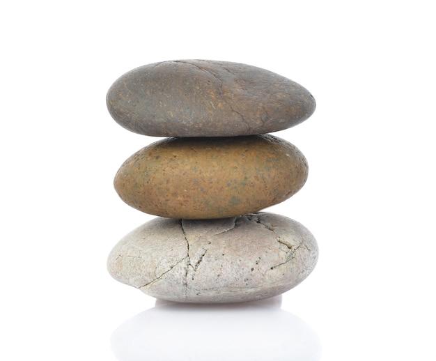 Stenen geïsoleerd op wit