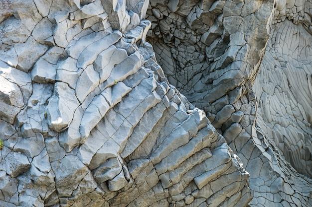 Stenen muur close-up in een klif