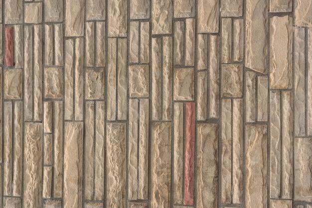 Stenen muur met ingewikkeld patroon
