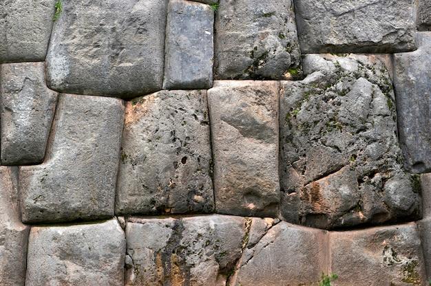 Stenen muur, sacsayhuaman, cuzco, peru