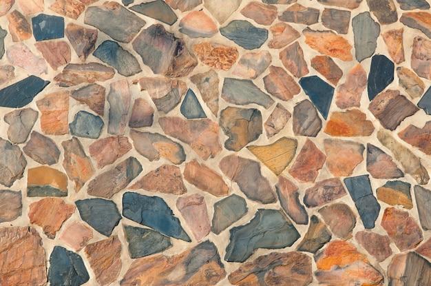 Stenen muur voor achtergrond en textuur, abstracte puzzel stenen muur achtergrond en textuur
