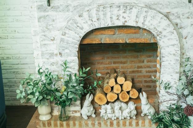 Stenen oven, open haard