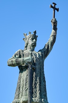 Stephen the great-standbeeld in chisinau, moldavië