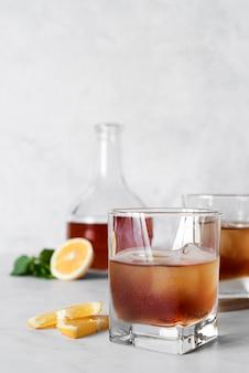 Sterke alcoholische drank kopie ruimte