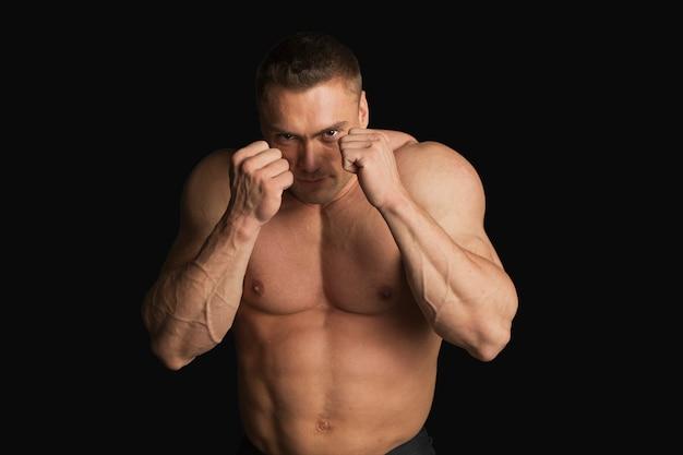 Sterke jonge man bokser