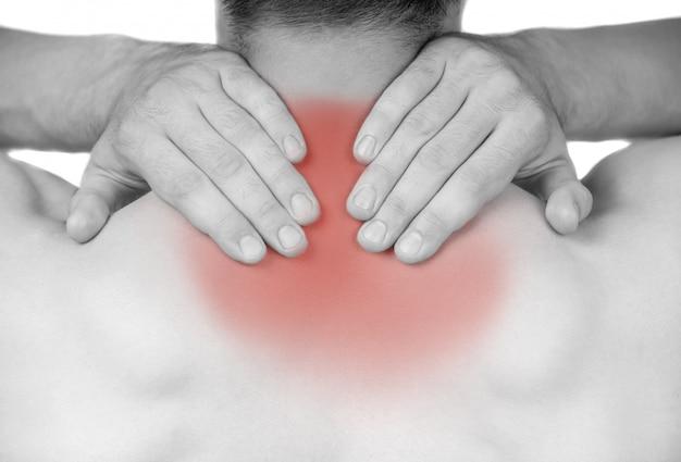 Sterke man met nekpijn