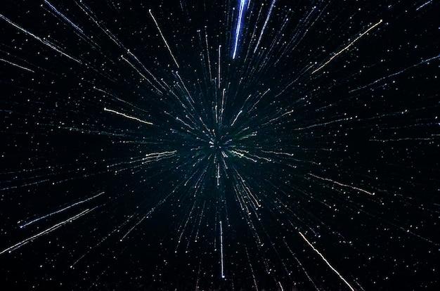 Sterren en melkweg kosmische ruimte nacht nacht universum zwarte sterrenhemel