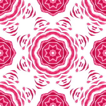 Sterren mandala geometrische aquarel patroon. hand getrokken sterren design print