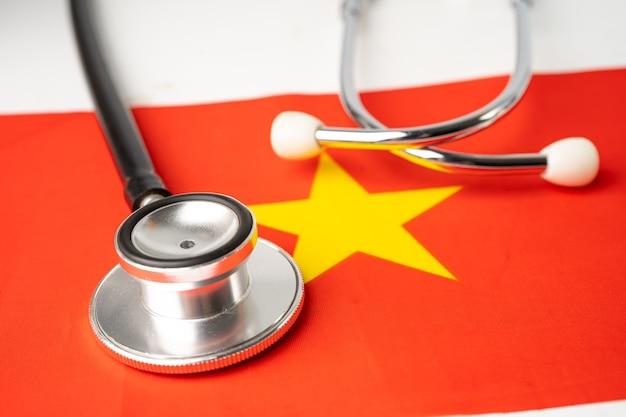 Stethoscoop op de vlag van china