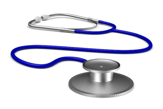 Stethoscoop op witte achtergrond. geïsoleerde 3d illustratie