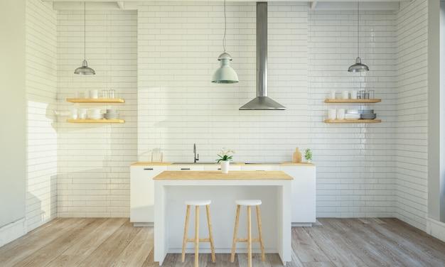 Stijlvol keukeninterieur met kookeiland