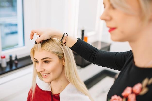 Stijlvol werken met klant in salon