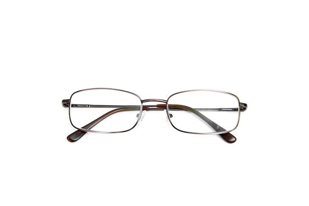 Stijlvolle bril op de witte achtergrond. geïsoleerd op wit