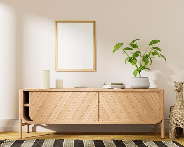 Stijlvolle moderne houten woonkamer in wit