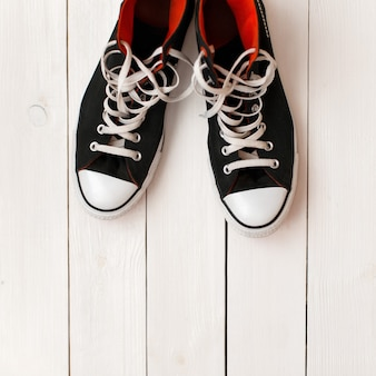 Stijlvolle modieuze zwarte schoenen