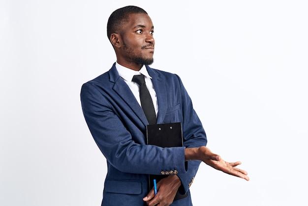 Stijlvolle zwarte man zakelijke afbeelding