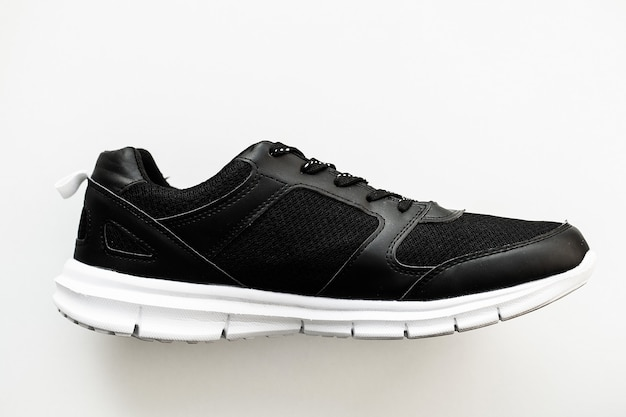 Stijlvolle zwarte mode sneakers