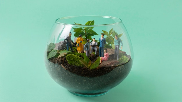Stilleven duurzame levensstijl arrangement