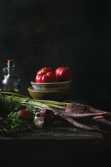 Stilleven met groenten