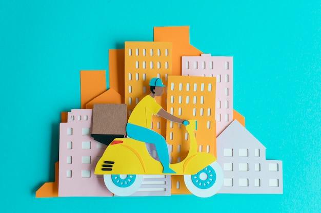 Stilleven papier stadsvervoer samenstelling