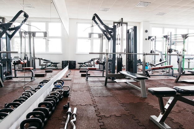 Stilleven van fitnessapparatuur